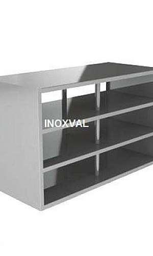 Armário em aço inox para cozinha industrial