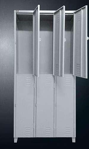 Armário roupeiro de aço 6 portas