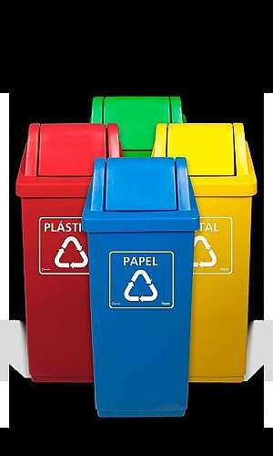 Coletores de Lixo Coloridos