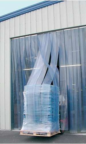 Cortina de PVC para supermercado