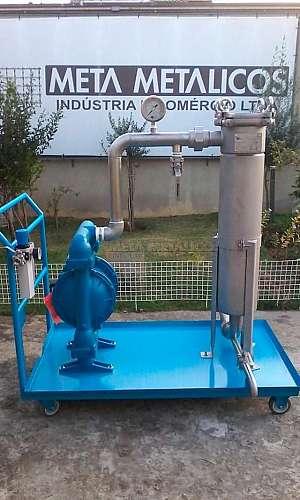 Filtro industrial inox