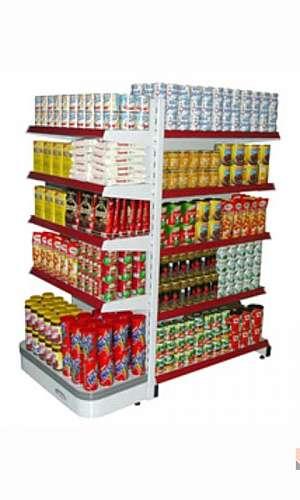 Gôndolas de aço para supermercado