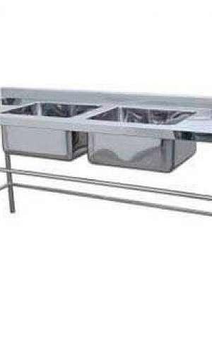 Mesa de aço inox para cozinha industrial