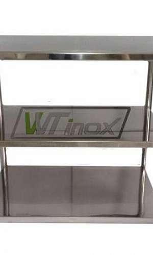 Prateleira de Inox para Cozinha Industrial